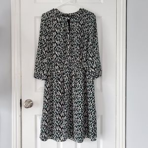 Banana Republic Green and White Spotted Dress